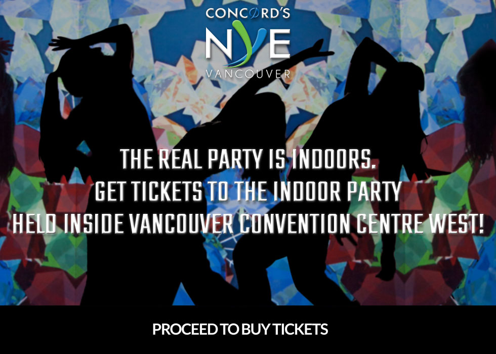 Buy Concord's New Year's Eve Vancouver Tickets